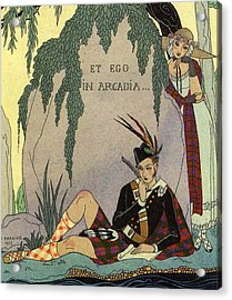 Poet Lover Acrylic Print by Georges Barbier