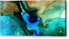 Point Of Power - Abstract Painting By Sharon Cummings Acrylic Print by Sharon Cummings