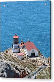 Point Reyes Lighthouse In California 7d15975 Acrylic Print by Wingsdomain Art and Photography