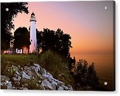 Pointe Aux Barques Acrylic Print by Michael Peychich