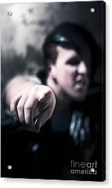 Pointing Out Of The Shadows Of Darkness Acrylic Print by Jorgo Photography - Wall Art Gallery
