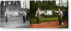Police - A Real Dummy 1923 - Side By Side Acrylic Print by Mike Savad