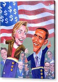 Political Puppets Acrylic Print by Ken Meyer jr