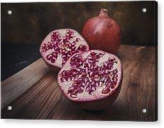 Pomegranates Acrylic Print by Tom Mc Nemar