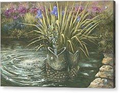 Pond Fountain Acrylic Print by Jose Rodriguez