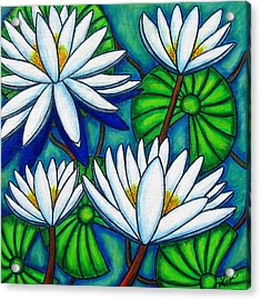 Pond Jewels Acrylic Print by Lisa  Lorenz