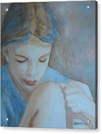 Pondering Acrylic Print by Jenny Armitage