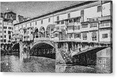 Ponte Vecchio Acrylic Print by Edward Fielding