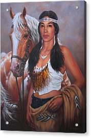 Pony Maiden Acrylic Print by Harvie Brown