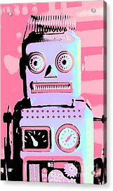 Pop Art Poster Robot Acrylic Print by Jorgo Photography - Wall Art Gallery