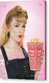 Popcorn Acrylic Print by Amanda And Christopher Elwell