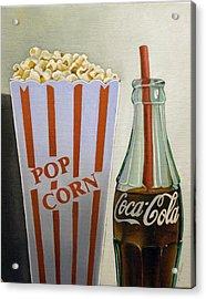 Popcorn And Coke Acrylic Print by Vic Vicini