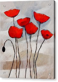 Poppies Painting Acrylic Print by Lutz Baar
