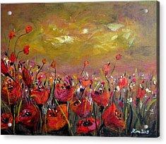 Poppy Field Acrylic Print by Alina Vidulescu