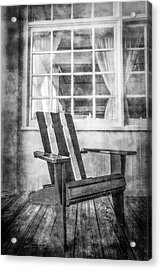 Porch Chair Acrylic Print by Debra and Dave Vanderlaan