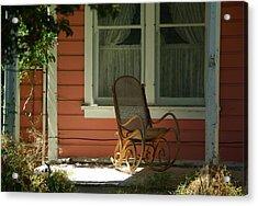 Porch Rocker Acrylic Print by Dale Stillman