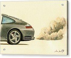 Porsche 911 996 4s Acrylic Print by Juan  Bosco