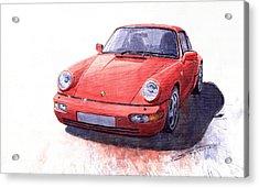 Porsche 911 Carrera 2 1990 Acrylic Print by Yuriy  Shevchuk