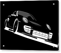 Porsche 911 Gt2 Night Acrylic Print by Michael Tompsett