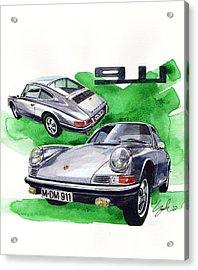 Porsche 911 Stainless Steel Body Acrylic Print by Yoshiharu Miyakawa