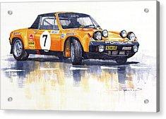 Porsche 914-6 Gt Rally Acrylic Print by Yuriy  Shevchuk