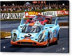 Porsche 917 At Le Mans Acrylic Print by David Kyte