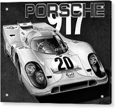 Porsche 917 Acrylic Print by Lyle Brown