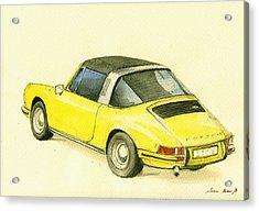 Porsche 993 Acrylic Print by Juan  Bosco