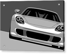 Porsche Carrera Gt Acrylic Print by Michael Tompsett