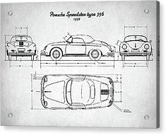 Porsche Speedster Type 356 Acrylic Print by Taylan Soyturk
