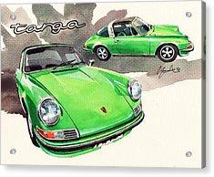 Porsche Targa 911 E  Acrylic Print by Yoshiharu Miyakawa