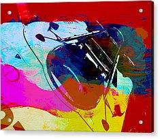 Porsche Watercolor Acrylic Print by Naxart Studio