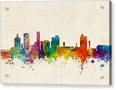 Port Elizabeth South Africa Skyline Acrylic Print by Michael Tompsett