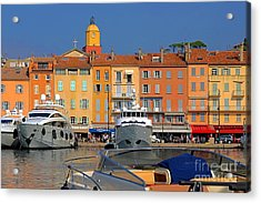 Port Of Saint-tropez In France Acrylic Print by Giancarlo Liguori