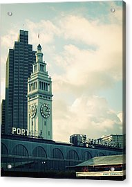 Port Of San Francisco Acrylic Print by Linda Woods