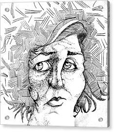 Portait Of A Woman Acrylic Print by Michelle Calkins
