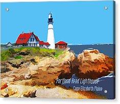 Portland Head Lighthouse Cape Elizabeth Maine Acrylic Print by Elaine Plesser