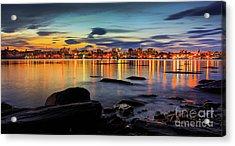 Portland Maine Acrylic Print by Benjamin Williamson