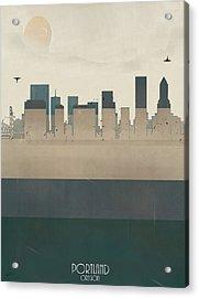 Portland Oregon Skyline Acrylic Print by Bri B