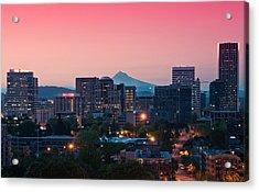 Portland Sunrise Acrylic Print by Brian Bonham