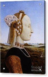 Portraif Of Battista Sforza Duchess Of Urbino Acrylic Print by Celestial Images