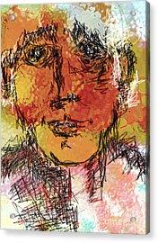 Portrait 11 Acrylic Print by Mimo Krouzian