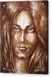 Portrait I Acrylic Print by Yonan Fayez