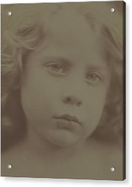 Portrait Of A Child, 1866 Acrylic Print by Julia Margaret Cameron
