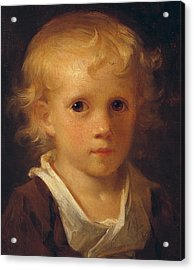 Portrait Of A Child Acrylic Print by Jean-Honore Fragonard