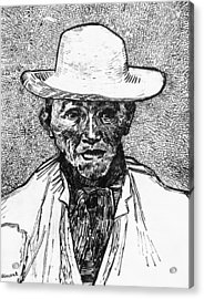 Portrait Of A Farmer Acrylic Print by Vincent Van Gogh