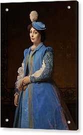 Portrait Of A Lady Acrylic Print by Charles Francois