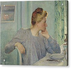 Portrait Of A Woman, 1900 Acrylic Print by Emile Claus