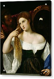 Portrait Of A Woman At Her Toilet Acrylic Print by Titian