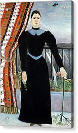 Portrait Of A Woman Acrylic Print by Henri Rousseau